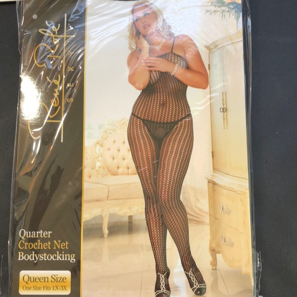 ead80962acd PlUS SIZE Fishnet Bodystocking Crotchless 165-275